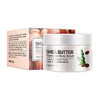 Увлажняющий скраб для тела с маслом Ши BIOAQUA Body Scrub Shea Butter, фото 1