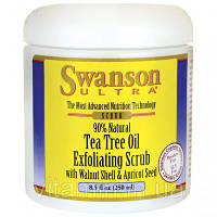 Скраб для лица с маслом чайного дерева, Tea Tree Oil Exfoliating Scrub, Swanson, 8.5 fl oz (250 мл) Scrub