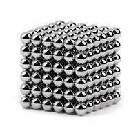Неокуб Neocube 216 шариков 5мм в металлическом боксе серебристый #S/O