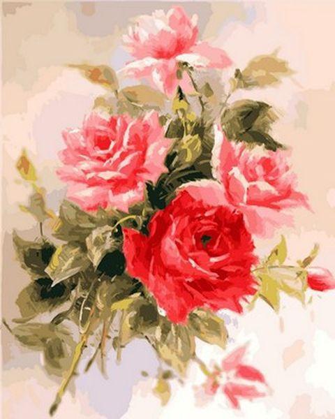 Картина за номерами 40×50 див. Babylon Чудові троянди (VP 587)