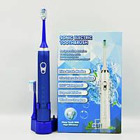 Электрическая зубная щетка Sonic Elektric 602 звуковая многофункциональная водостойкая синяя