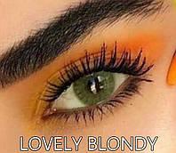 Цветные линзы ЛЮКС качество Rainbow Lovely Blondy с диоптриями от -1 до -6 с шагом 0,5 Турция