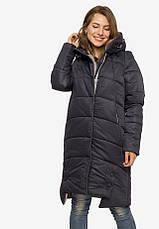 Зимняя стеганная куртка со вшитым капюшоном на кулиске жемчуг размер 44-46 48-50 52-54, фото 3