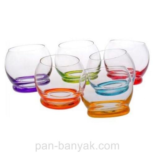 Набор стаканов низких Bohemia Crazy 6 штук 390мл богемское стекло (25250-D4718)