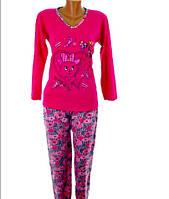 Женская пижама на байке цветная