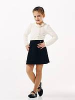 Блуза трикотажная с длинным рукавом SMIL молочная 114646/114647