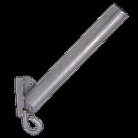 Кронштейн для светильника уличного освещения (д.40мм., Длина трубы 350 мм., 45 град) Кбл-См с крюком