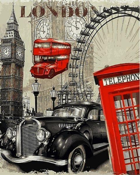 Картина за номерами 40×50 див. Babylon Лондон (VP 690)