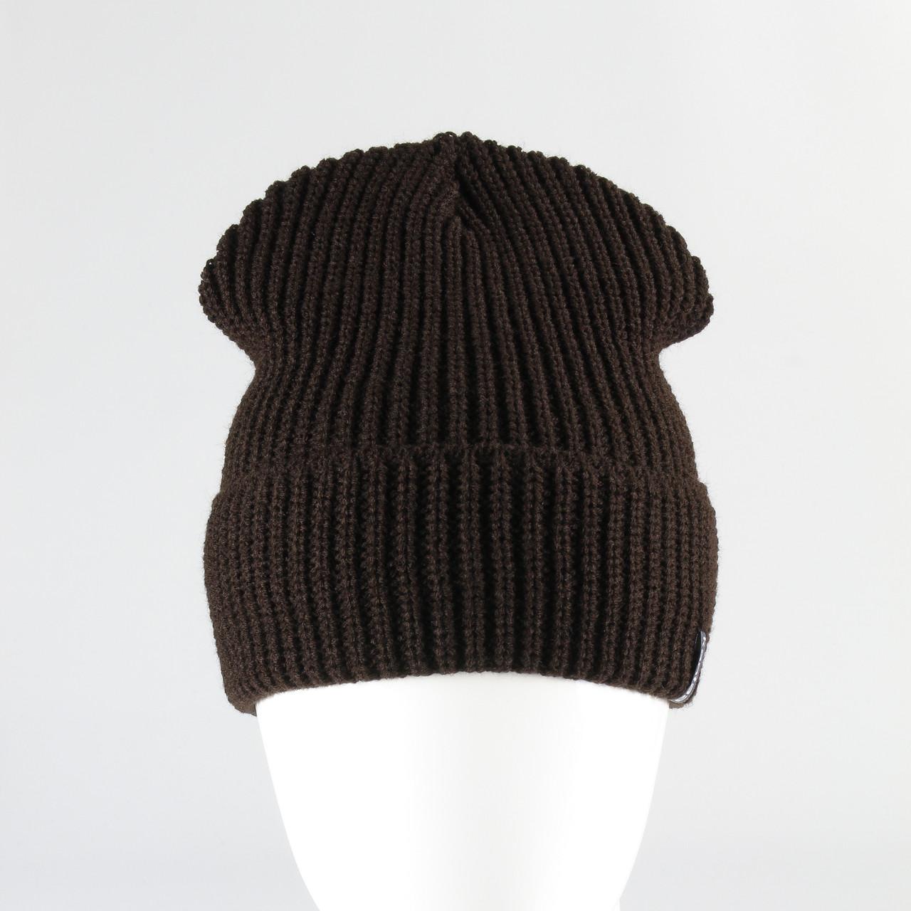 Шапка зимняя вязанная KANTAA коричневый