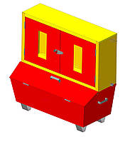 Стенд пожежний закритого типу не укомплектований СПЗм