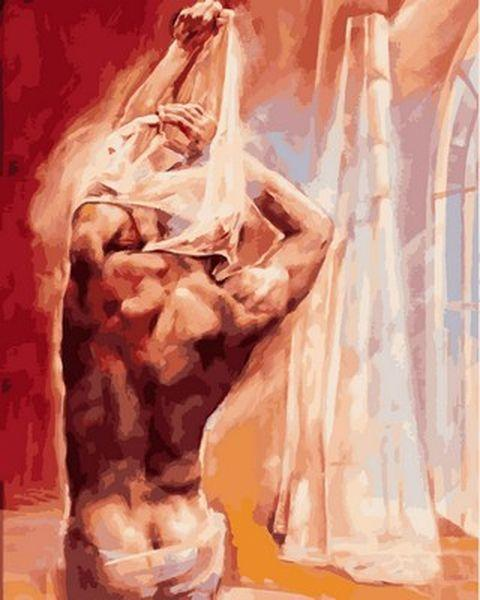 Картина за номерами 40×50 див. Babylon Чоловічий силует Художник Роберт Дюваль (VP 746)