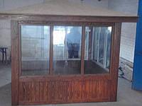 Деревянный домик охраны