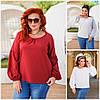 Батал до 56р  Женская блуза с широкими рукавами 20074-1