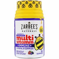 Zarbee's, Полноценный комплекс мультивитаминов для детей + защита иммунитета, смесь натуральных ягод, 70 жевательных таблеток