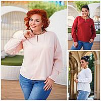 Батал до 56р Жіноча блуза 20075-1, фото 1