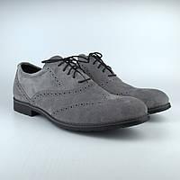 Туфлі броги оксфорди сірі чоловічі замшеві Rosso Avangard Felicete Persona Silver VeL, фото 1