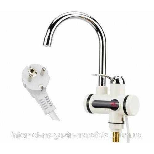 Проточный электрический водонагреватель c дисплеем Instant Electric Heating Water Faucet