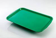 Поднос прямоугольный зеленый 41х31 см пластик GastroPlast