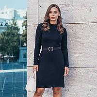 Платье теплое черное К 00 539 02