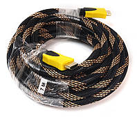 Видео кабель PowerPlant HDMI - HDMI, 7м, позолоченные коннекторы, 1.3V, Nylon