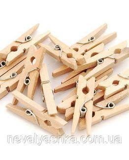 Прищепка Маленькая Деревянная 3х0.8 см для Бизиборда Прищепочка Прищіпка для Бізіборда Декоративная