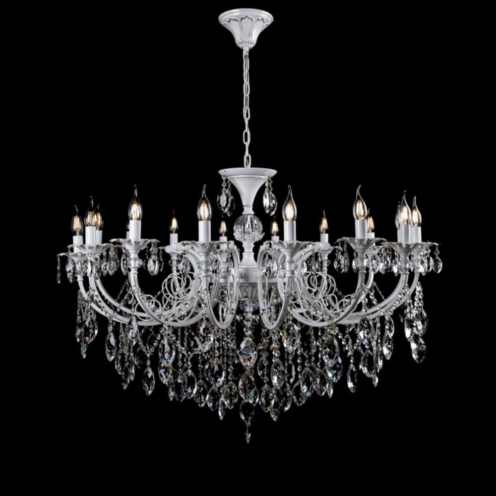 Классическая люстра-свеча на 16 лампочек СветМира VL-30064/16 (LWT+GD)