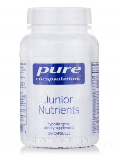 Детские Питательные вещества, Junior Nutrients, Pure Encapsulations, 120 Капсул