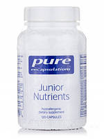 Детские Питательные вещества, Junior Nutrients, Pure Encapsulations, 120 Капсул, фото 1