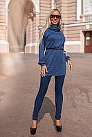 Женский костюм / джинс-бенгалин, ангора люрекс / Украина 40-2080, фото 1