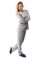Женская пижама серый кашемир