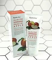 Яблочная пилинг-скатка для лица FarmStay All-In-One Whitening Peeling Gel Cream Apple