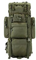 Рюкзак туристический с дождевиком А21 олива, 70 л