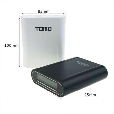 Tomo T4 new Power bank зарядний 2 в 1 для акумуляторів 18650. Білий колір