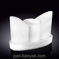 Набор для специй Wilmax  (соль/перец/зубочистка) 3 предмета фарфор (996117 WL)
