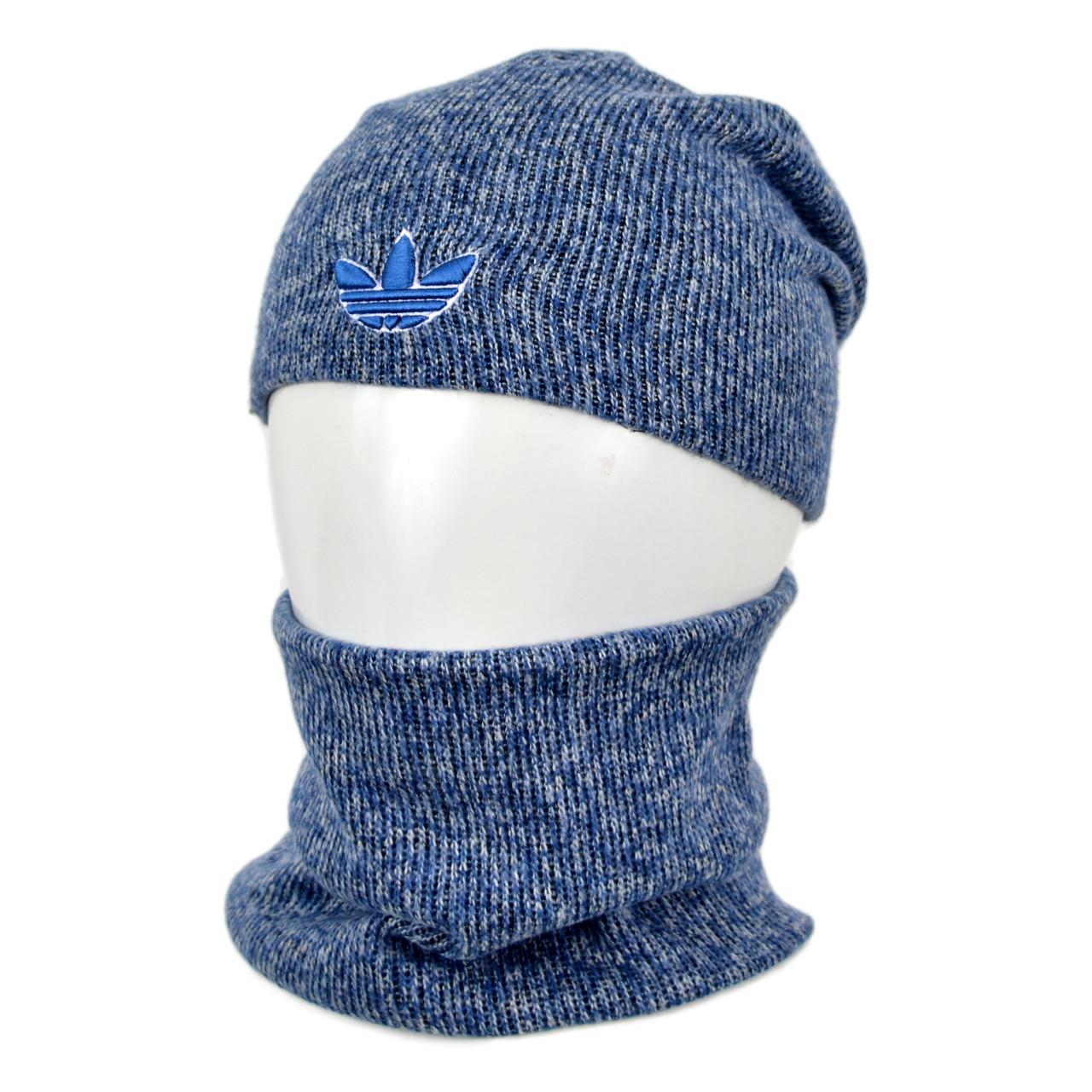 Комплект шапка+баф adidas SP1902 джинс