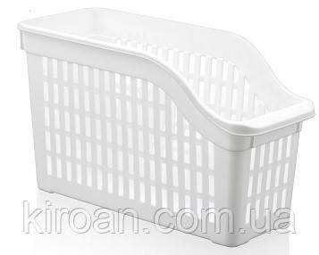 Пластиковый лоток для холодильника 4,3л (цвет-белый)