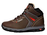 Ботинки черевики в стилі Columbia коричневі