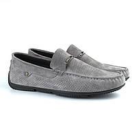 Летние мокасины замшевые серые с перфорацией мужская обувь больших размеров Rosso Avangard Platinum Vel BS, фото 1