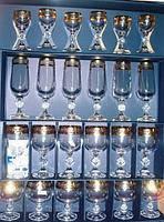 Claudia Набор бокалов 24предмета 50мл/180мл/190мл/250мл богемское стекло Bohemia