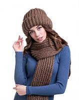 Теплый комплект - шапка и шарф