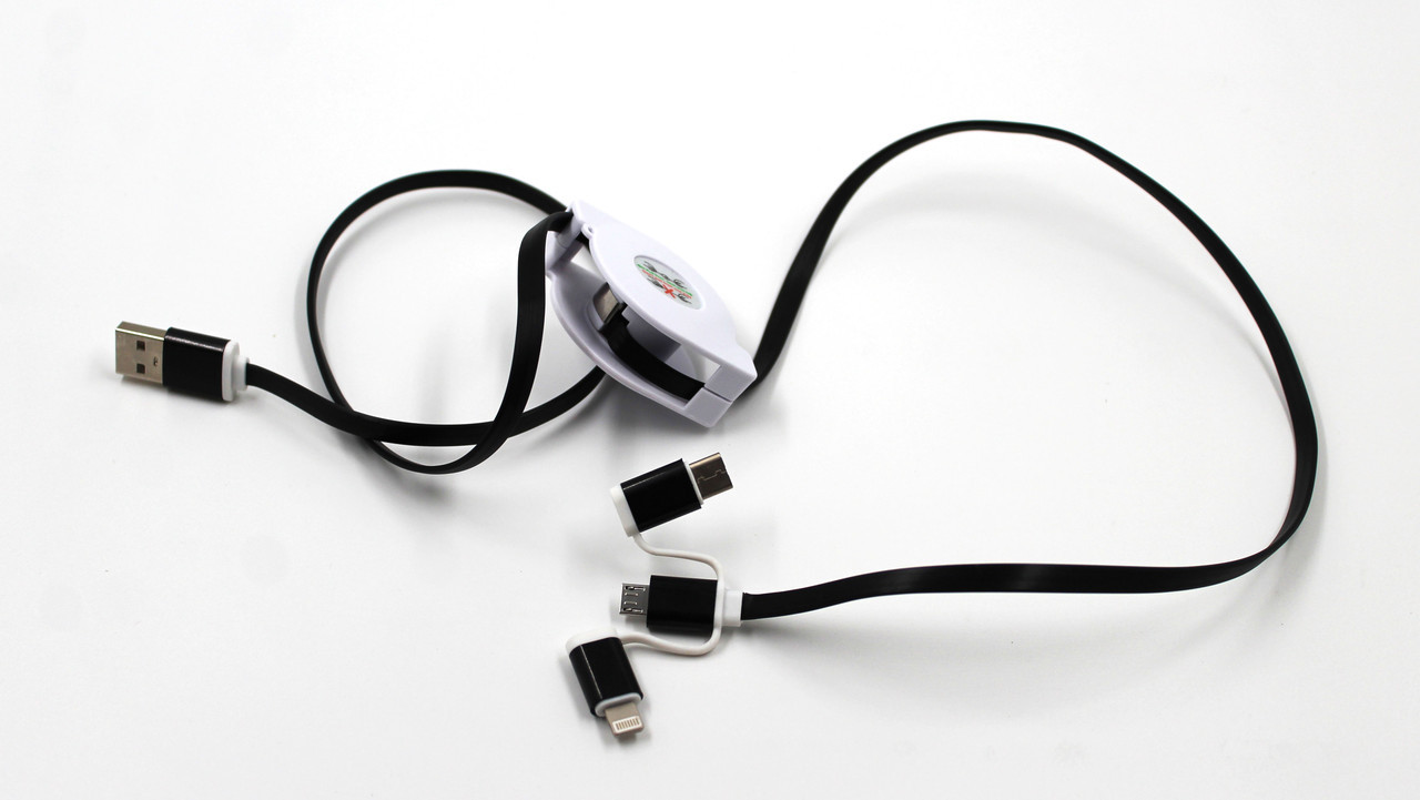 Шнур для моб. pull push 3in1 (1000) 100pc pack