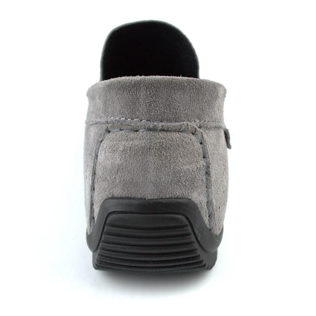Летние мокасины замшевые серые с перфорацией мужская обувь Rosso Avangard Classic Platinum