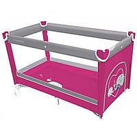 Детский манеж Baby Design Simple розовый (20052)