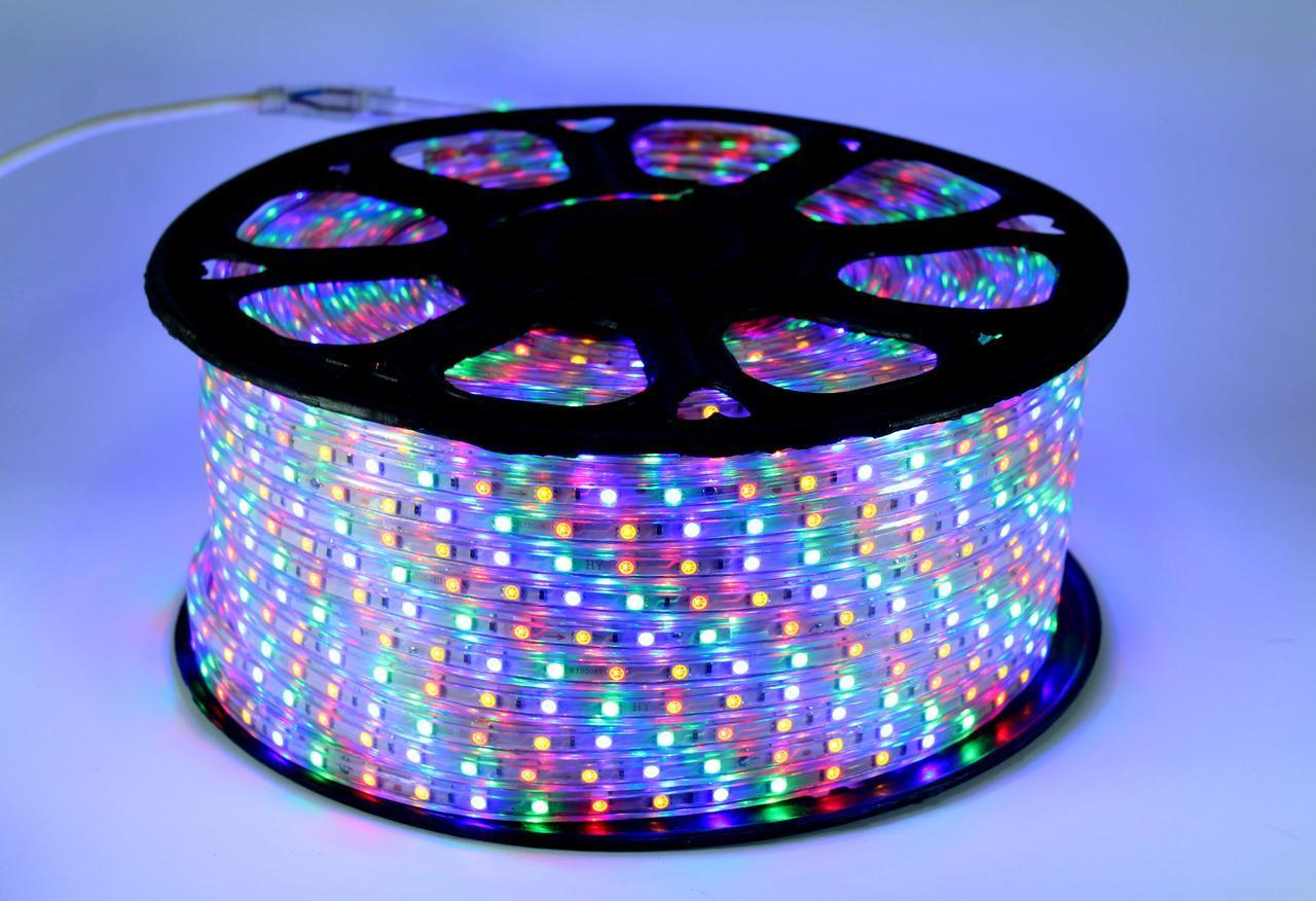 LED 5050 M RGB Мультицветная 100m 220V (1) в уп. 1шт.