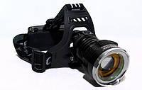 Фонарик налобный фонарь Bailong BL T619 Черный