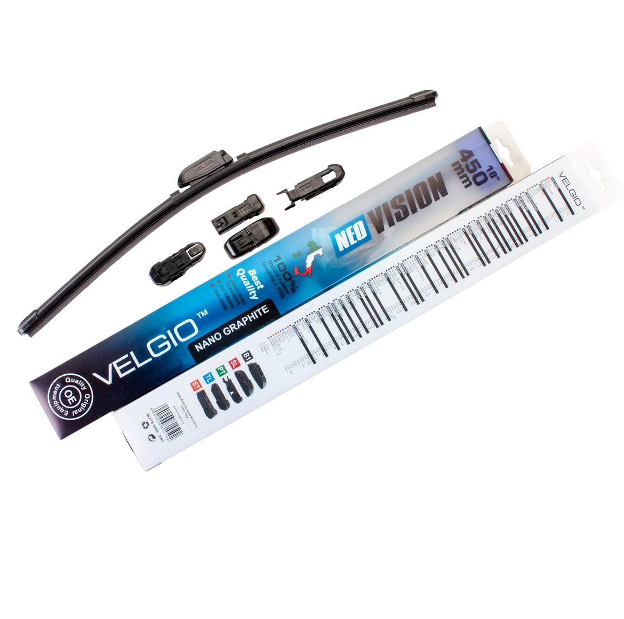 Дворники для авто Velgio Neo Vision 18in / 450мм