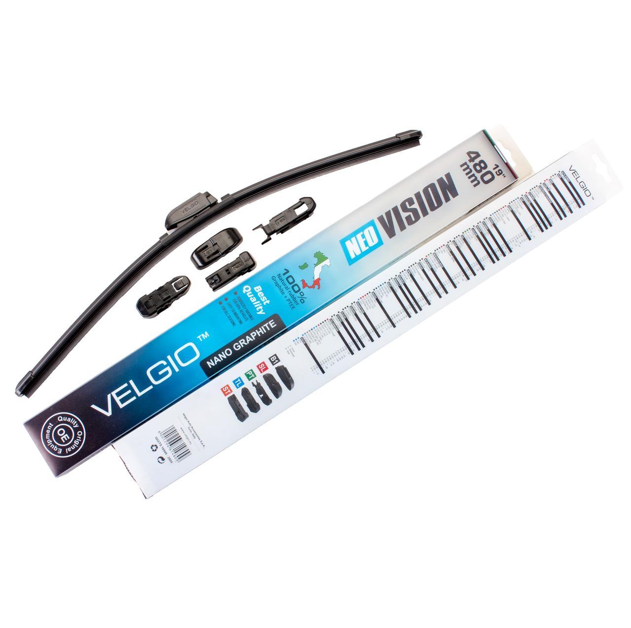 Дворники для авто Velgio Neo Vision 19in / 480мм