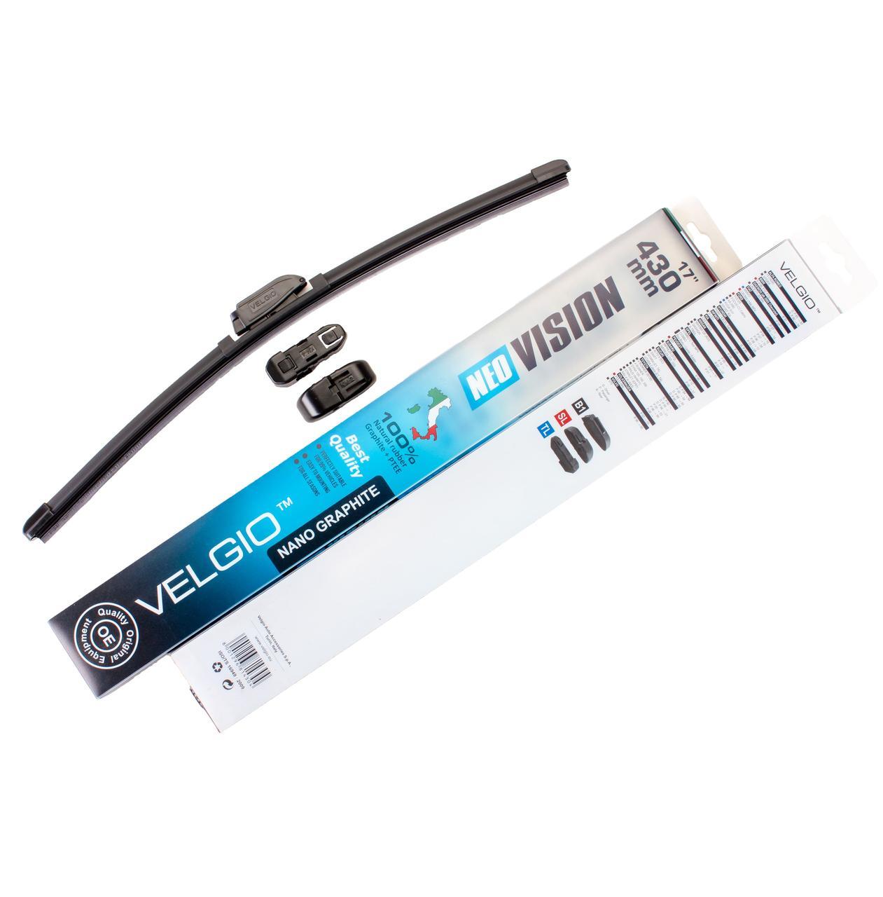 Дворники для авто Velgio Neo Vision 17in / 430мм