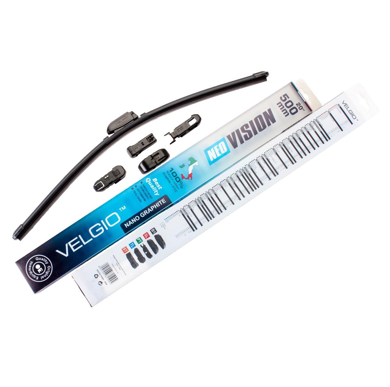 Дворники для авто Velgio Neo Vision 20in / 500мм