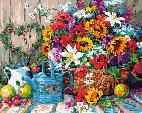 Картина по номерам 40×50 см. Babylon Садовые цветы (VP 944)